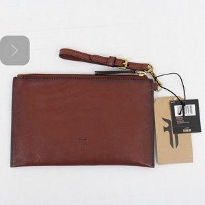 NWT Frye Wristlet/pouch 100% Genuine Leather.